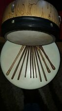 Handcrafted wooden bodhran tipper beater with weights