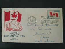 CANADA's First National FLAG Honoured, 1965 First Day of Issue, Ottawa Ontario