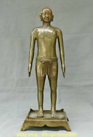 21,6  Bronze Chinois  Cuivre  Homme Nue Point D'acupuncture Humaine Statue