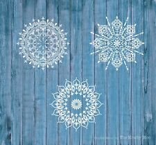 Stencil Mylar 125 mic Mandala Bargain Bundle Wall Fabric Furniture Painting x 3