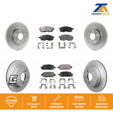 Front Rear Coated Disc Brake Rotors And Ceramic Pads Kit For Nissan Sentra Juke