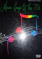 """""""MOVIE SONGS OF THE 70'S"""" PIANO/VOCAL/GUITAR CHORDS MUSIC BOOK-NEW ON SALE RARE!"""