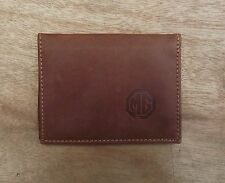 MG logo Tan Leather credit card size, driving licence holder vs933