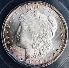 1885-S Morgan Silver Dollar ANACS MS63 Brilliant Double Sided Purple Toning