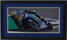 VALENTINO Rossi Firmato a Mano YAMAHA MOTOGP incorniciato prova fotografica di visualizzazione 14.