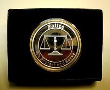 New listing >Spec *Police Officer Prot&Serv Gift! 1 Troy oz .999 Fine Silver Bar w/Bx+Extras