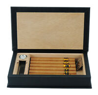 Quality 5+ CT Count Cigar Humidor Humidifier Wooden Case Box Hygrometer Travel