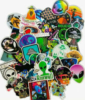 50 Lot Outer Space Roswell Alien Area51 UFO Craft Wall Phone Decal Sticker Pack