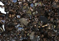 "40 LB Reflective Black Fireglass for Firepits / Fireplace 1/4"" Crushed Glass"