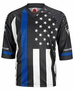 Thin Blue Line Men's 3/4 Sleeve Mountain Bike Jersey