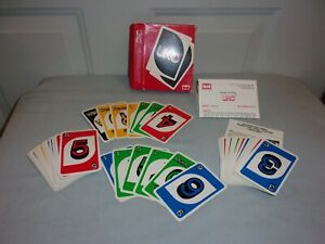 Complete 1988 Vintage Uno Card Game with Box and instructions