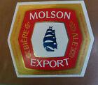 VINTAGE CANADIAN BEER LABEL - MOLSON BREWERY, EXPORT ALE 12 FL OZ #2