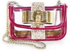 Christian Louboutin Sweet Charity PVC Clear Glitter Chain Shoulder Bag