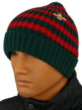 df1bed5ad104c NEW GUCCI WEB WOOL GOLD BEE EMBROIDERED BEANIE HAT 58 M MEDIUM