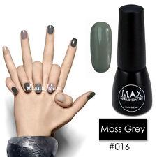 Max 7ml Nail Art Color UV LED Lamp Soak off GEL Polish #016-moss Grey
