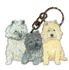 Cairn Terrier Wooden Dog Breed Keychain Key Ring