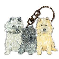 Cairn Terrier Wooden Keychain