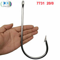 1Pcs 20/0 Large Stainless Steel Fishing Hooks Big Game Thick Tuna 7731 Fish Hook