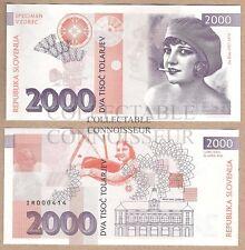 Slovenia 2000 Tolar 2016 UNC SPECIMEN Test Note Banknote - Ita Rina (Actress)
