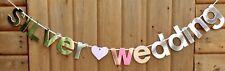 SILVER WEDDING WEDDING BANNER PARTY BUNTING (SILVER)