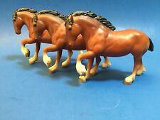 THREE Vintage Breyer Little Bit Bay Clydesdale Paddock Pals Made in USA