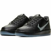NIKE KIDS WOMENS AIR FORCE 1 LV8 3 - UK 5 & 6 - BLACK/GREY (CD7409-001)