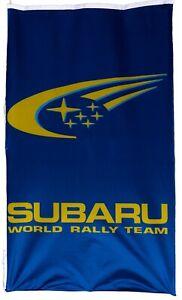 SUBARU-FLAG WORLD RALLY TEAM BLUE VERTICAL BANNER 5 X 3 FT 150 X 90 CM