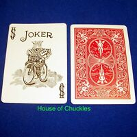 One Way Force Card Deck, Black White Joker, Red Bicycle, Forcing Magic Trick