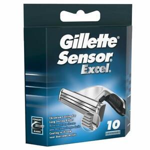 Gillette Sensor Excel Razor Blades for Men Pack of 10 Blades SAME DAY DISPATCH
