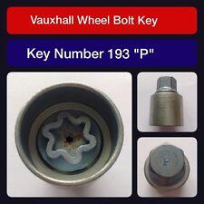 "Genuine Vauxhall Locking Wheel Bolt / Nut Key 193 ""P"""