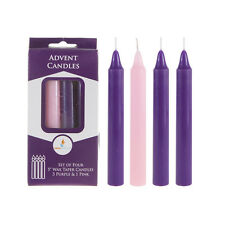 """Mega Candles - Unscented 5"""" Advent Taper Candle - Assorted, Set of 4"""