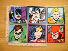 Justice League Batman Wonder Woman Flash Cotton Quilt Fabric Panel Blocks (6)