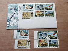 PNG - 1973 - Telecommunications Project MNH stamps + First Day Cover