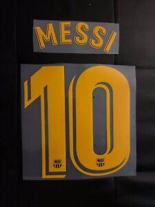 Flocage Name Set  #10 Messi Barcelona Barça Barcelone Domicile Home