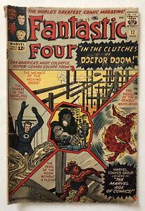 Fantastic Four #17 (Marvel 1963) DoctorDoom-Antman-JFK App Lee/Kirby Silver Age