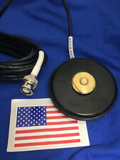 MAGNET BASE NMO MOUNT BNC MALE MAGNETIC  UHF VHF ANTENNA BASE NMO MADE IN USA