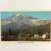 "Vintage Post Card Campground at Paradise Valley Washington 3.5""x5.5"" Unposted"