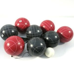 Vintage Sportcraft Bocce Ball Set With Case and Instructions 8 Balls 1 Pallino