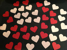 50 Red & Pink Hearts  Size of Hearts 50 Pink & Red Hearts, Ideal for Card Making