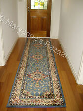 Hallway Runner Hall Runner Rug 3 Metres Long Premium Quality Classic Blue