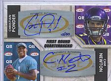 Christian Ponder/Cam Newton 11 Sage 5 Star Autograph Card /50