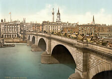 "PS13 Vintage 1890's Photochrom Photo - London Bridge - Print A3 17""x12"""