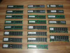 LOT of 22 Sticks of Various Server RAM 512MB 256MB 128MB Toshiba Samsung GOLD