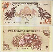 BHUTAN UNCIRCULATED BANKNOTE -5 Ngultrum 2006