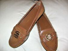 Etienne Aigner SIZE 6 LOAFERS/SHOES COGNAC SUEDE, NEW IN BOX