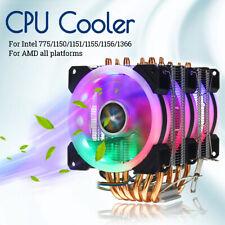 CPU Enfriador 3 Ventilador Disipador 6 Tubo Térmico Para Intel 775/1150/1151