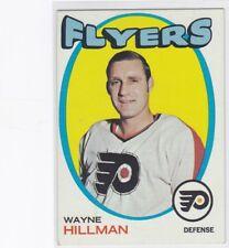 1971-72 TOPPS HOCKEY WAYNE HILLMAN #62 FLYERS EX+ *60216