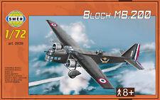 BLOCH MB 200 - WW II BOMBER (ARMEE DE L'AIR/FRENCH & VICHY AF MKGS) 1/72 SMER