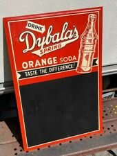 Antique Drink Dybala's Spring Orange Soda Menu Metal Tin Sign Scioto Chalkboard