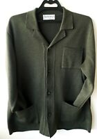 Vintage burberry cardigan sweater wool size L green olive wool jacket